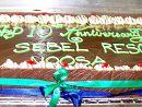 12) Anniversary chocolate mudcake  Feeds 50