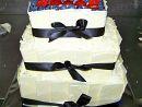 1) Wedding cake with fresh fruit   Feeds 50