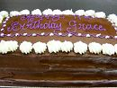 9) Birthday Chocolate slab mudcake  Feeds 40